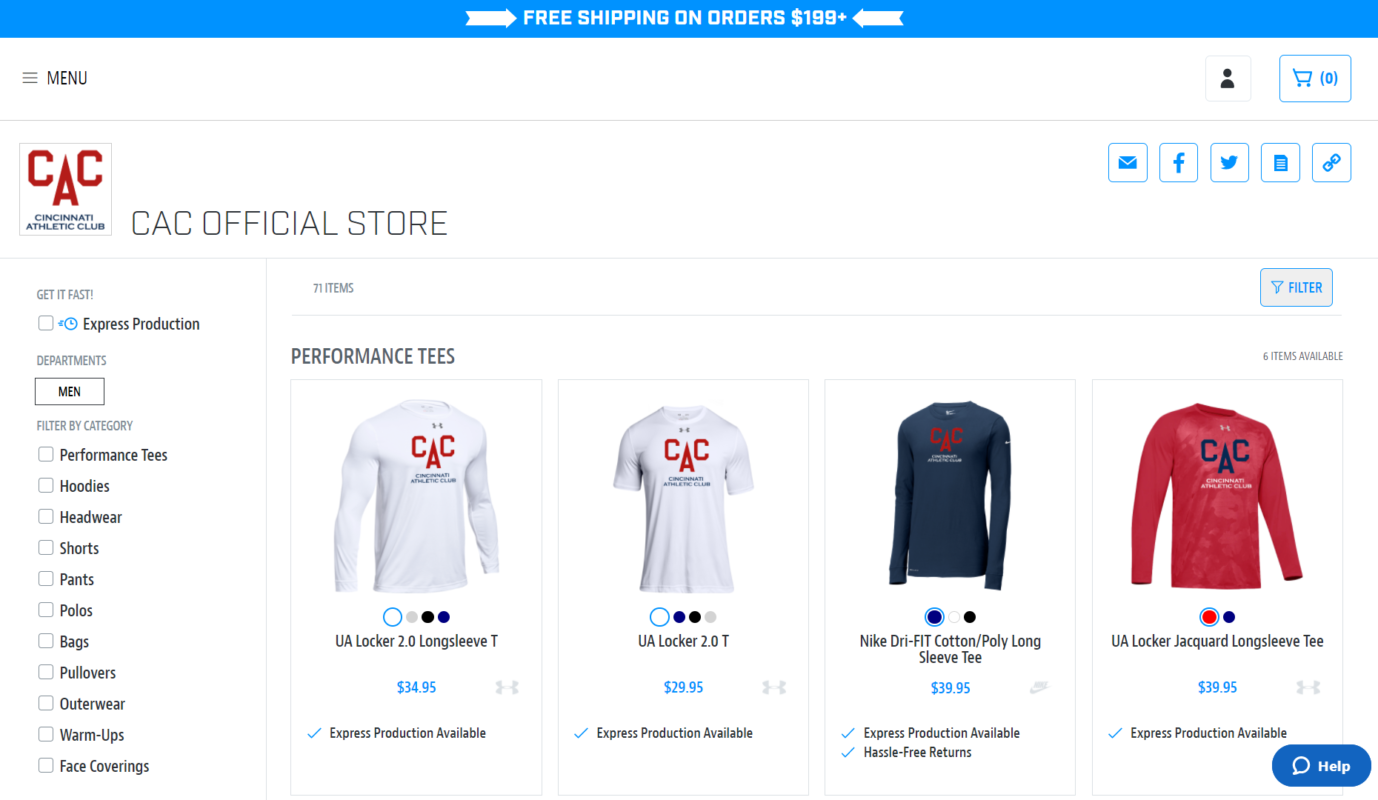 My Gym Shop Store Example