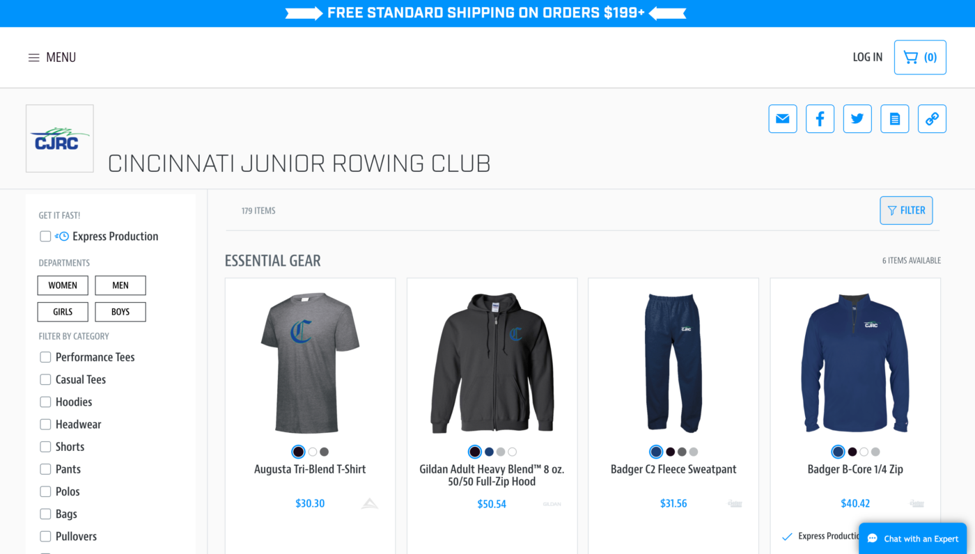 My Team Shop Store Example